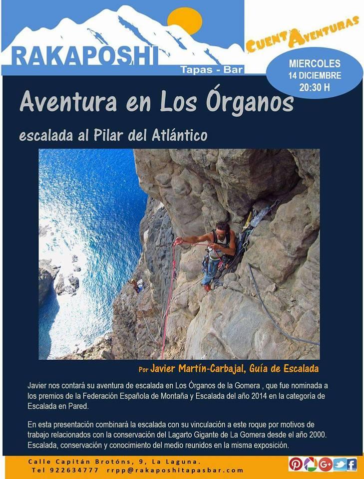 14 diciembre 2016. Aventura en los Organos (La Gomera)