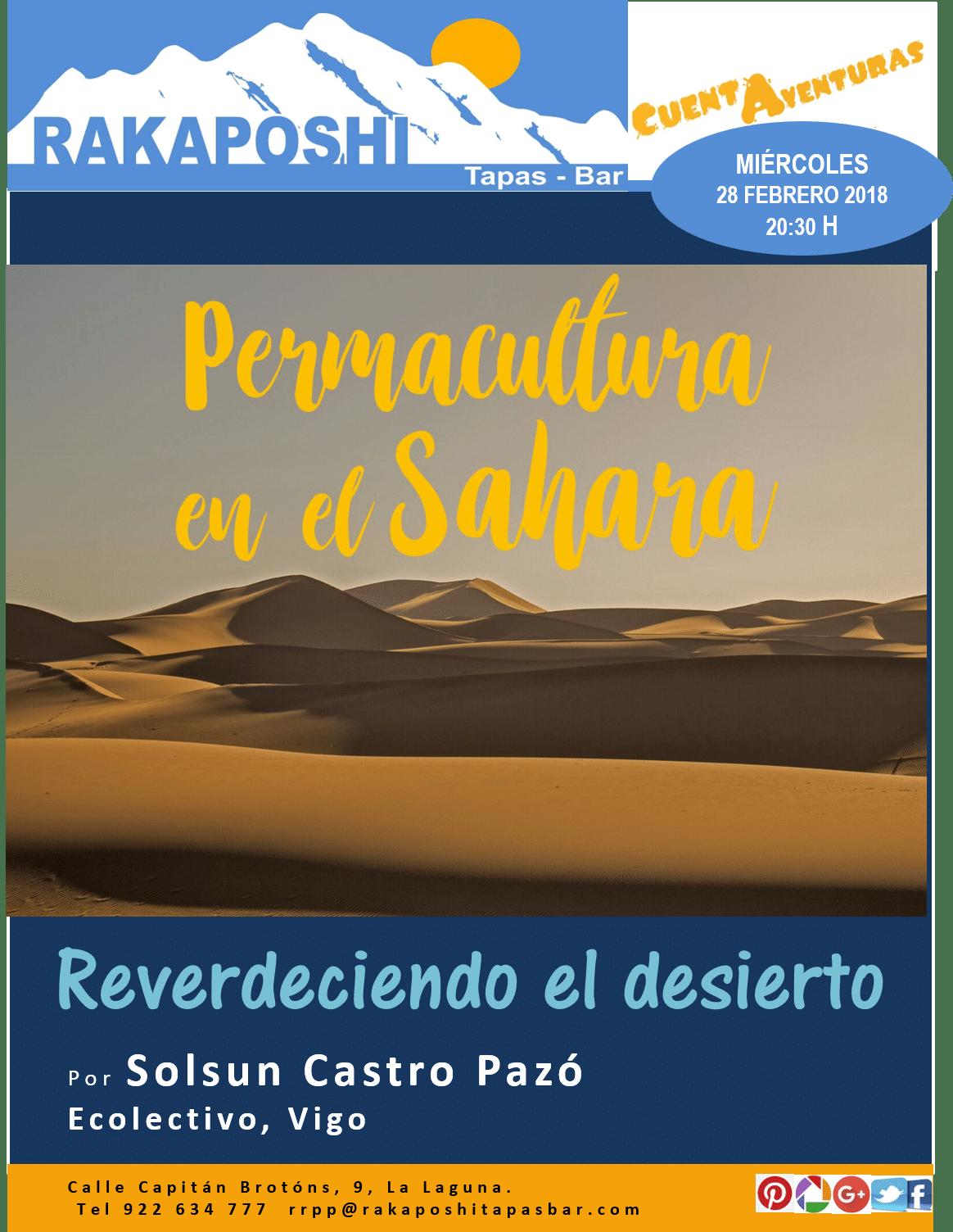 """cuentaventuras """"Permacultura en el Sáhara"""""""