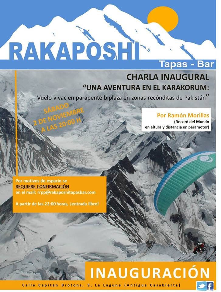 2 noviembre 2013. Inauguración Rakaposhi Tapas Bar