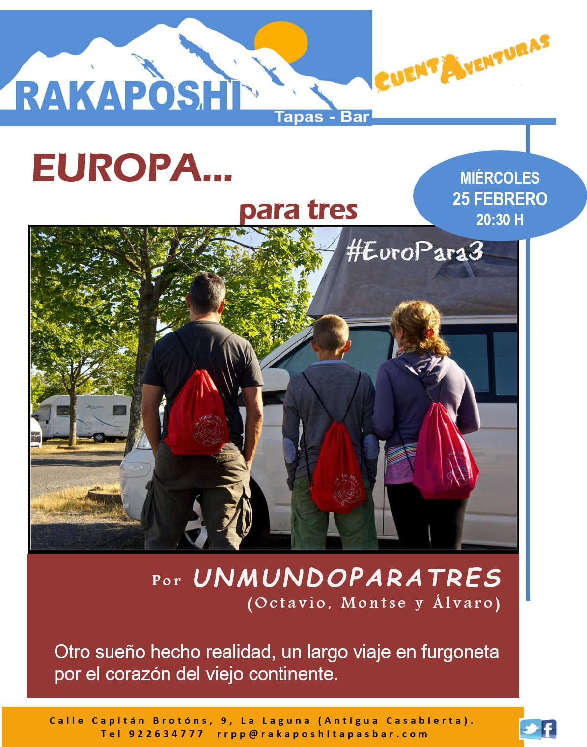 25 febrero 2015. Europa…para tres. Octavio, Montse y Álvaro