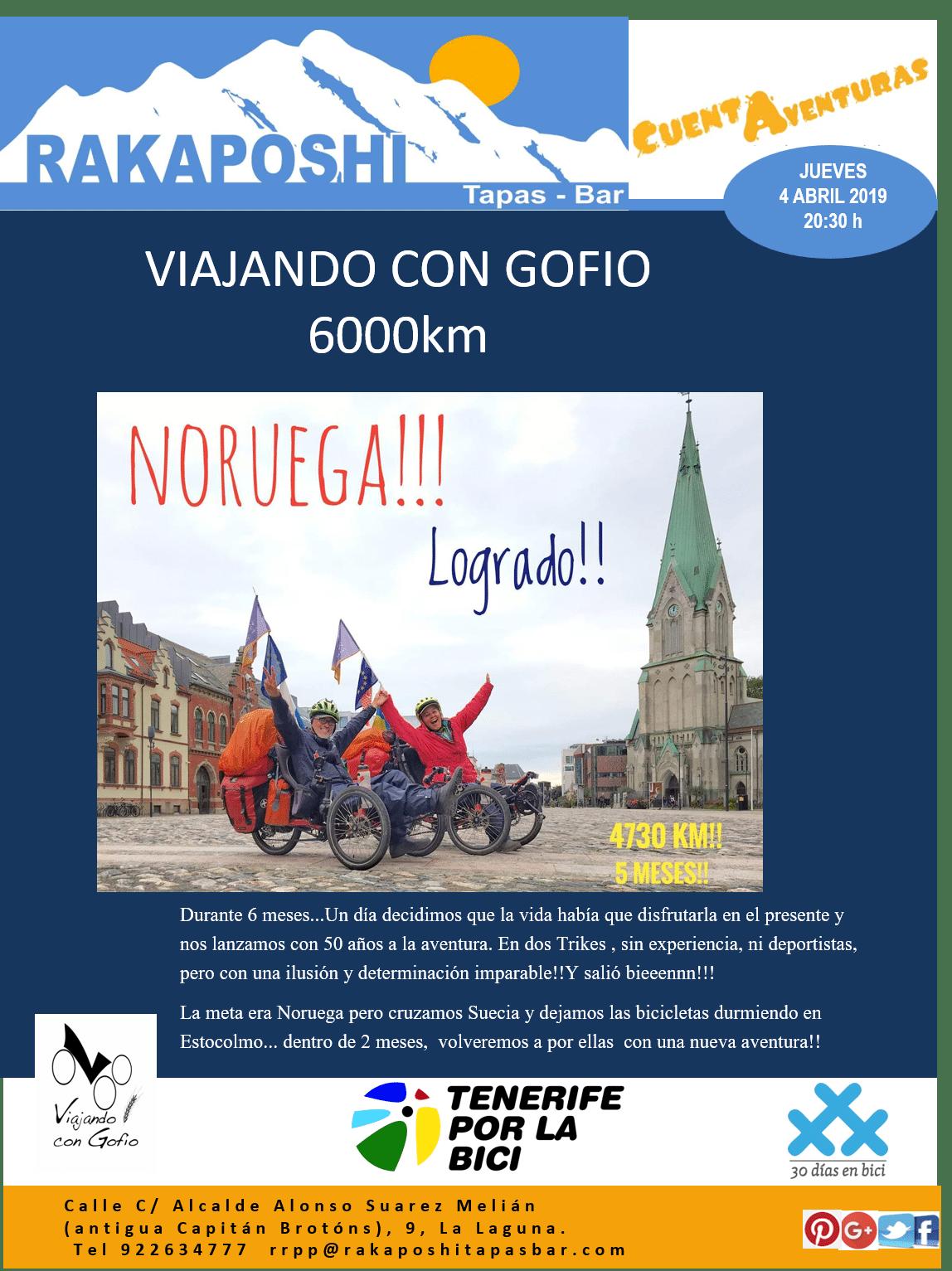 4 de abril de 2019. Viajando con Gofio, 6.000 km por Europa