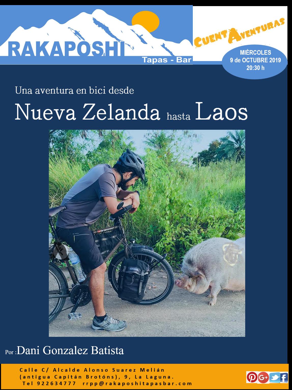 De Nueva Zelanda a Laos en bicicleta