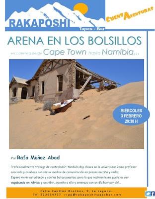 3 febrero 2016. Con arena en los bolsillos de Cape Town a Namibia. Rafa Muñoz Abad