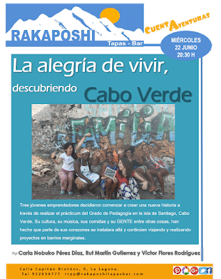 22 de junio 2016. La alegría de vivir, Caboverde. Carla, Rut y Victor