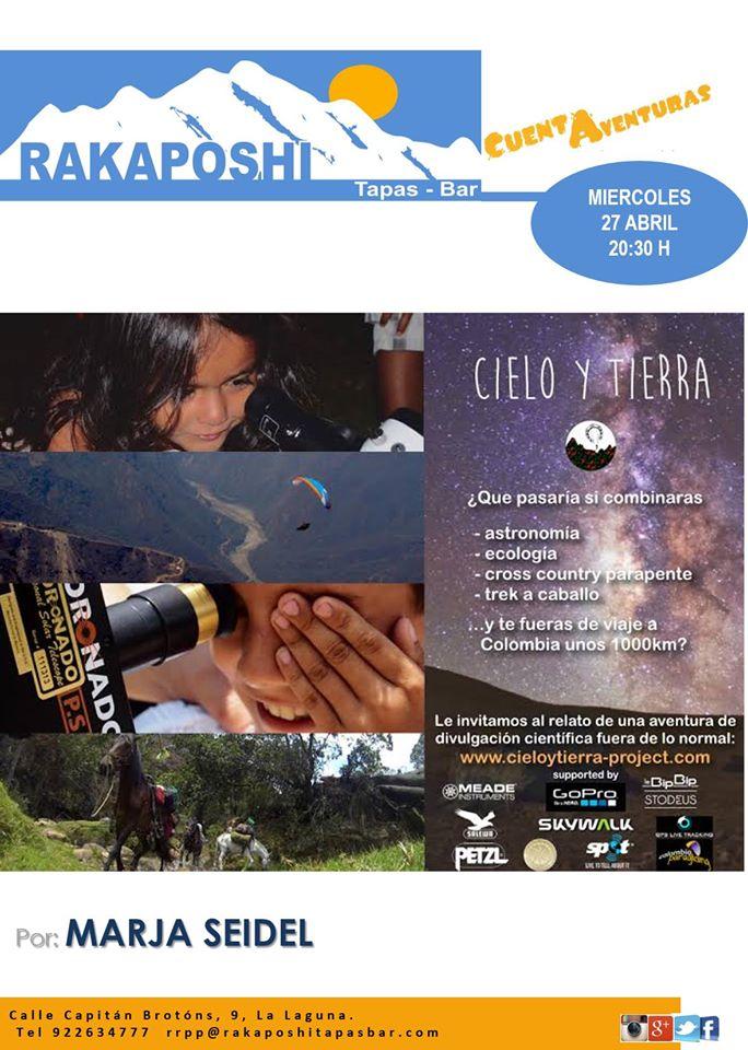 27 abril 2016. Cielo y tierra Colombia a caballo y parapente. Marja Seidel